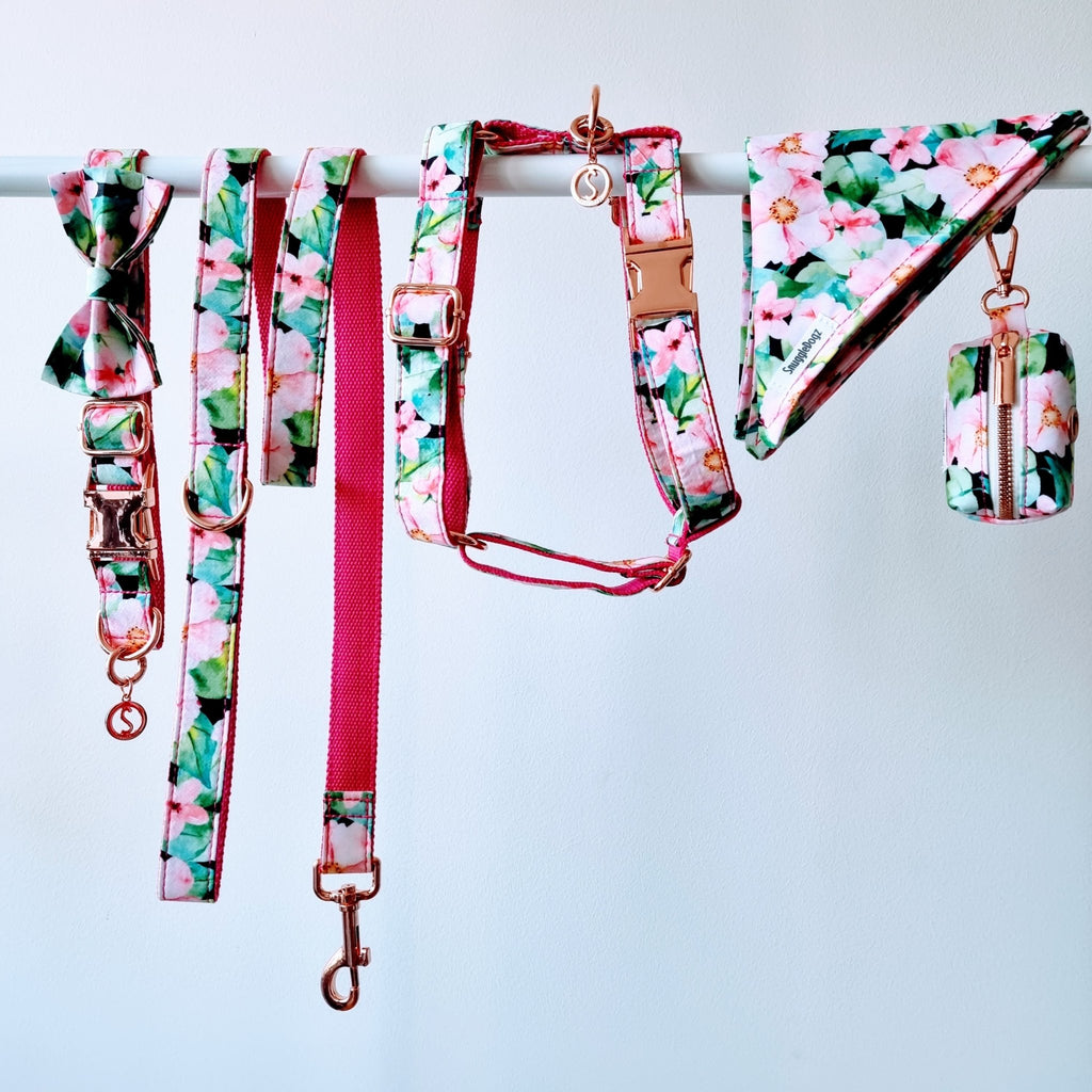 Dog Harness Pink Floral | Refined - SnuggleDogz