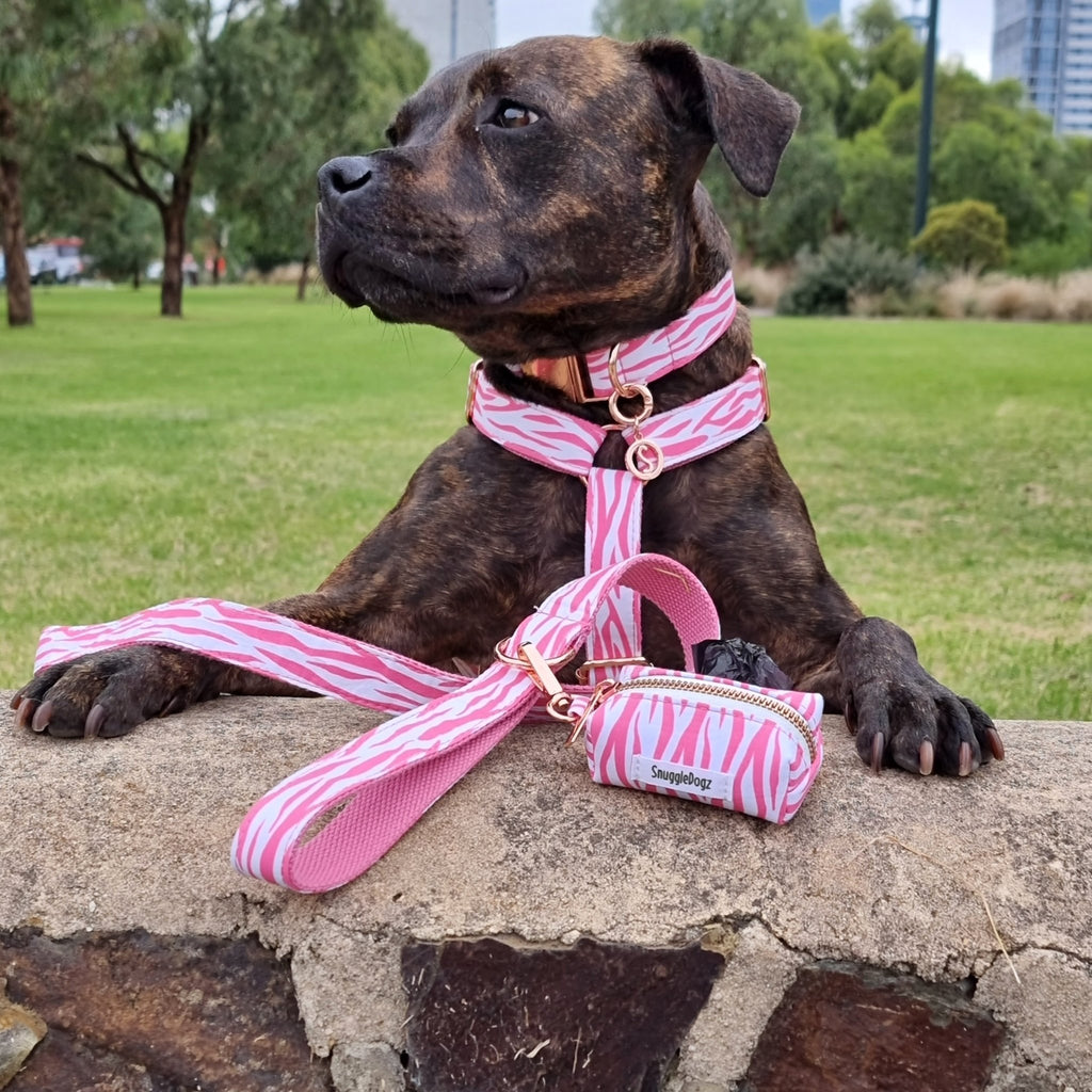 Dog Harness Pink Zebra | Chic - SnuggleDogz