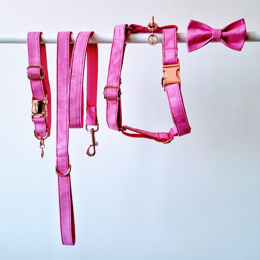 Dog Harness Velvet Pink | Timeless - SnuggleDogz