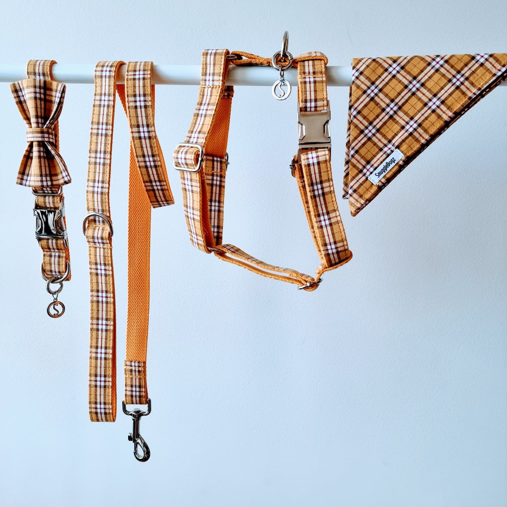 Dog Harness Yellow Check | Bold - SnuggleDogz