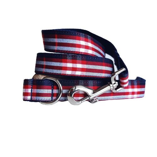 Dog Leash Blue Check | Bold - SnuggleDogz