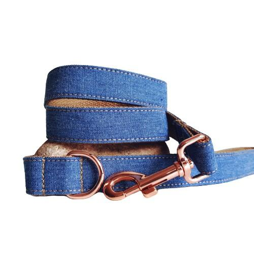 Dog Leash Dark Denim | Timeless S / Rose Gold - SnuggleDogz
