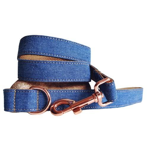 Dog Leash Dark Denim | Timeless S / Silver - SnuggleDogz