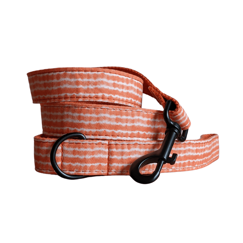 Dog Leash Orange Tie Dye | Chic S / Black - SnuggleDogz