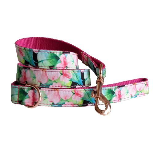 Dog Leash Pink Floral | Refined - SnuggleDogz