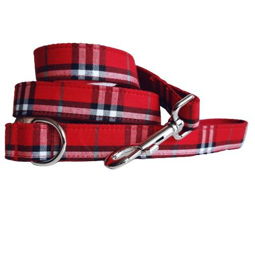Dog Leash Red Check | Bold - SnuggleDogz
