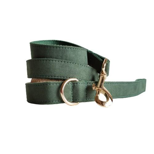Dog Leash Velvet Green | Timeless - SnuggleDogz