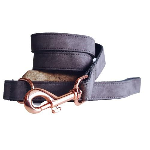 Dog Leash Velvet Grey | Timeless - SnuggleDogz