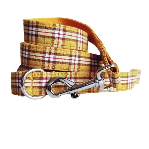 Dog Leash Yellow Check | Bold - SnuggleDogz