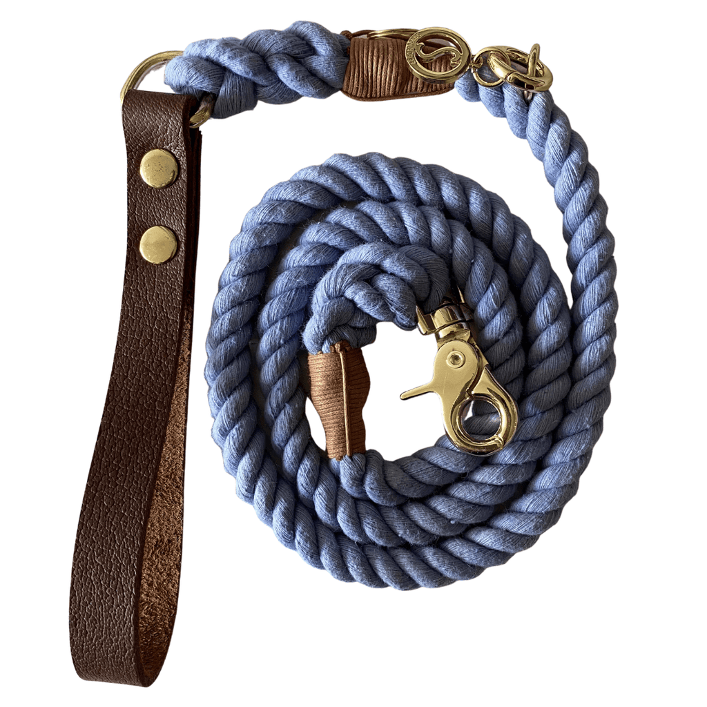 Rope Dog Leash Dreamy Blue | Twisted 2.0 - SnuggleDogz