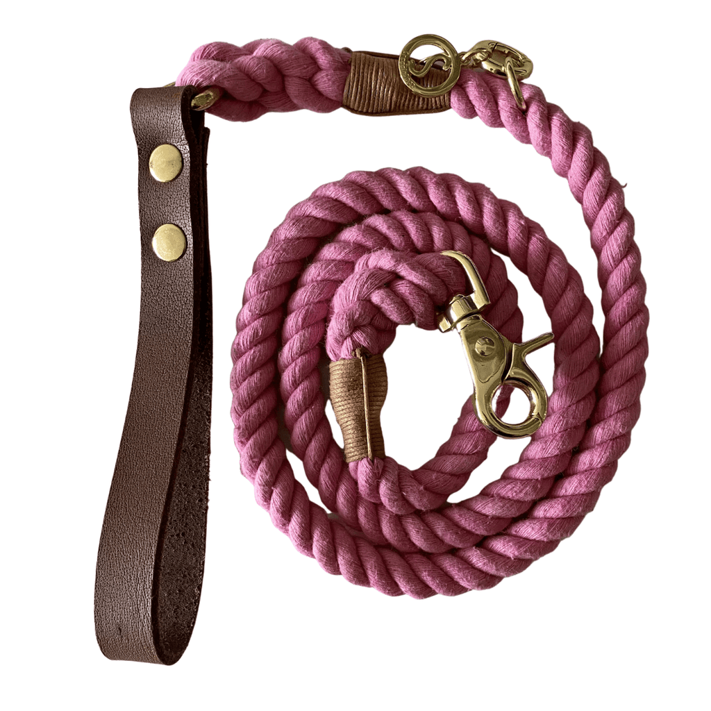 Rope Dog Leash Dusky Pink | Twisted 2.0 - SnuggleDogz