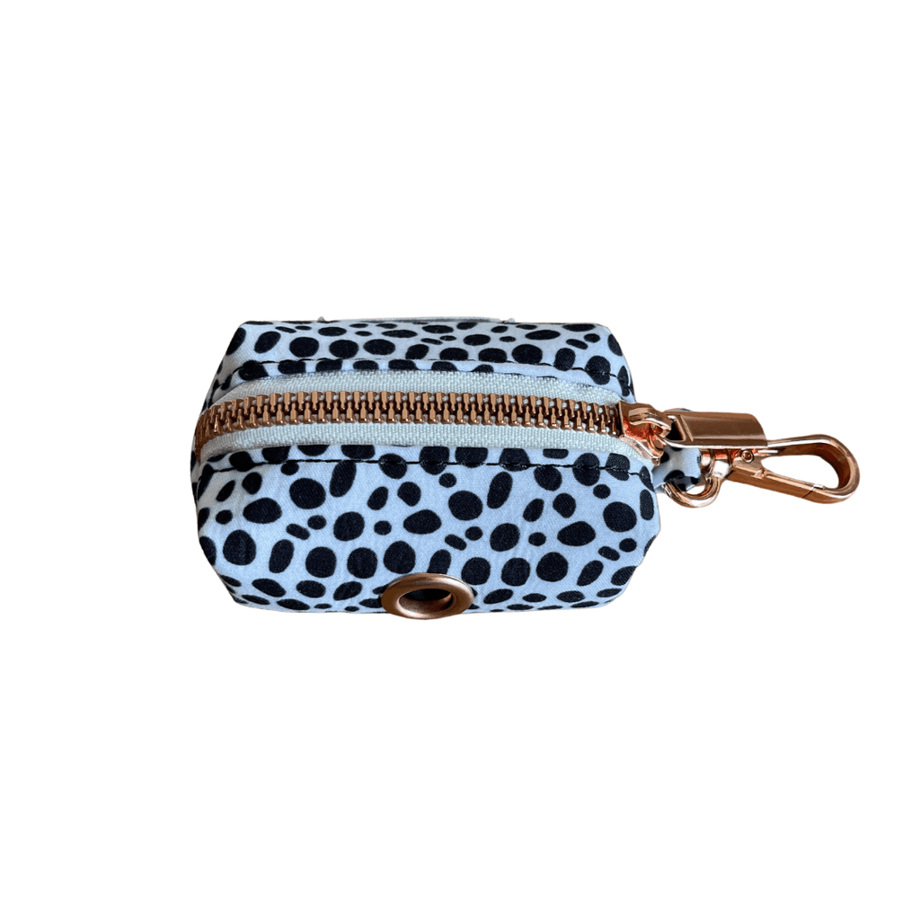 Dog Waste Bag Holder Black Spots | Chic Rose Gold - SnuggleDogz