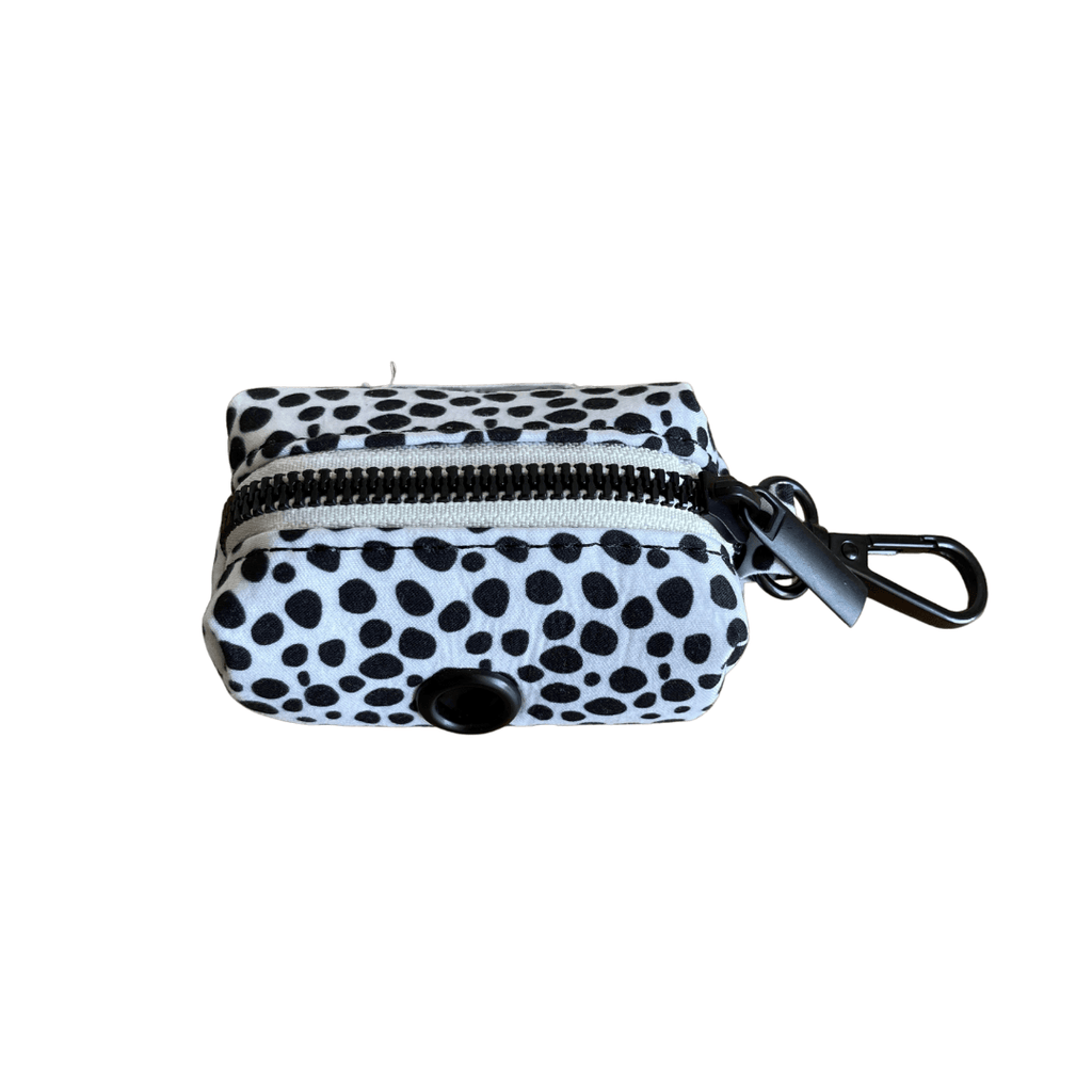 Dog Waste Bag Holder Black Spots | Chic Black - SnuggleDogz