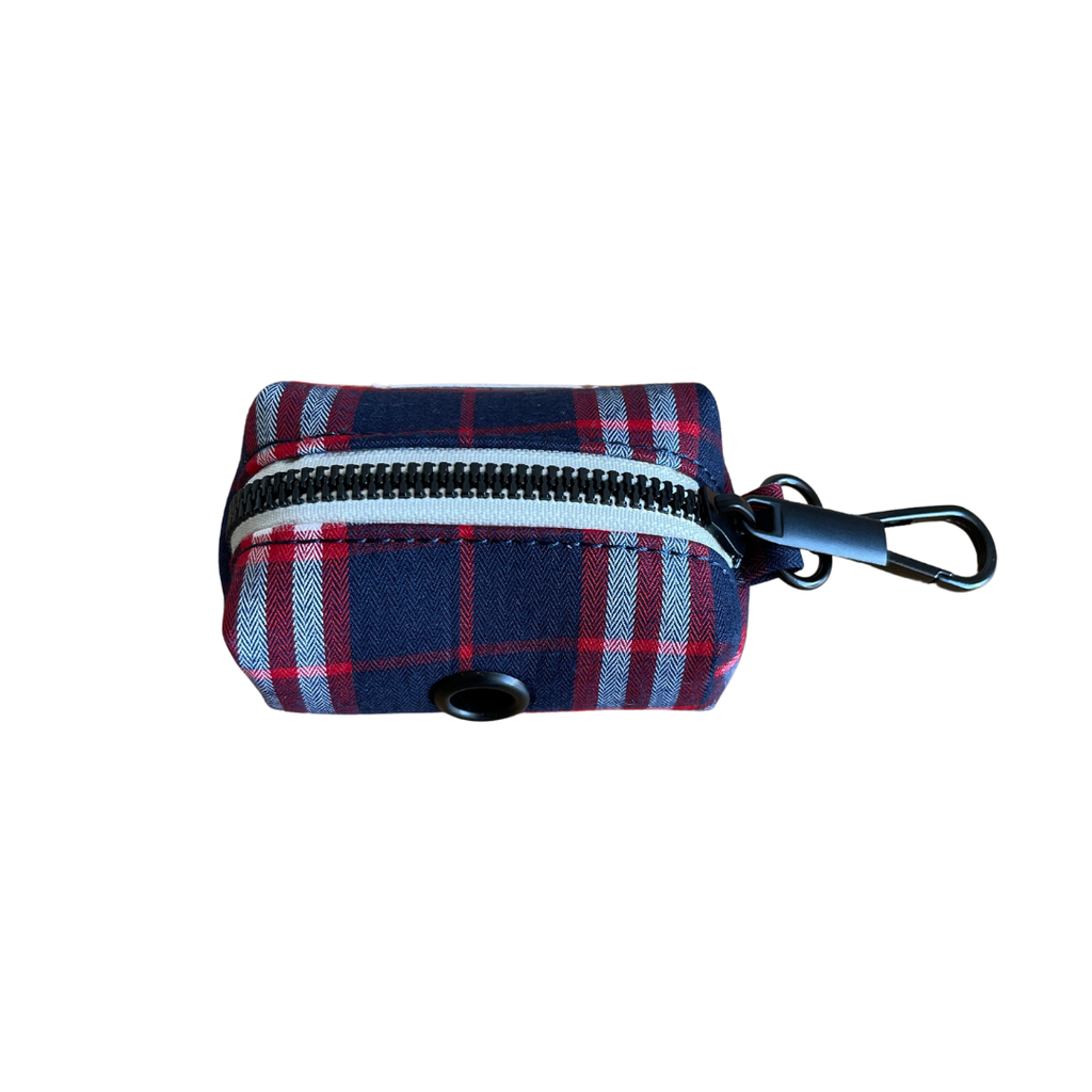 Dog Waste Bag Holder Blue Check | Bold - SnuggleDogz
