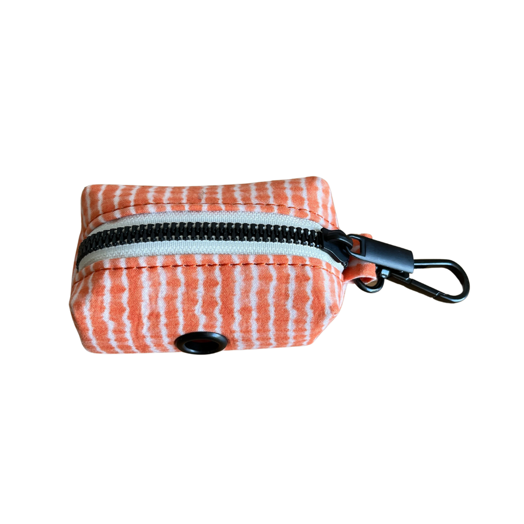 Dog Waste Bag Holder Orange Tie Dye | Chic 25Black - SnuggleDogz