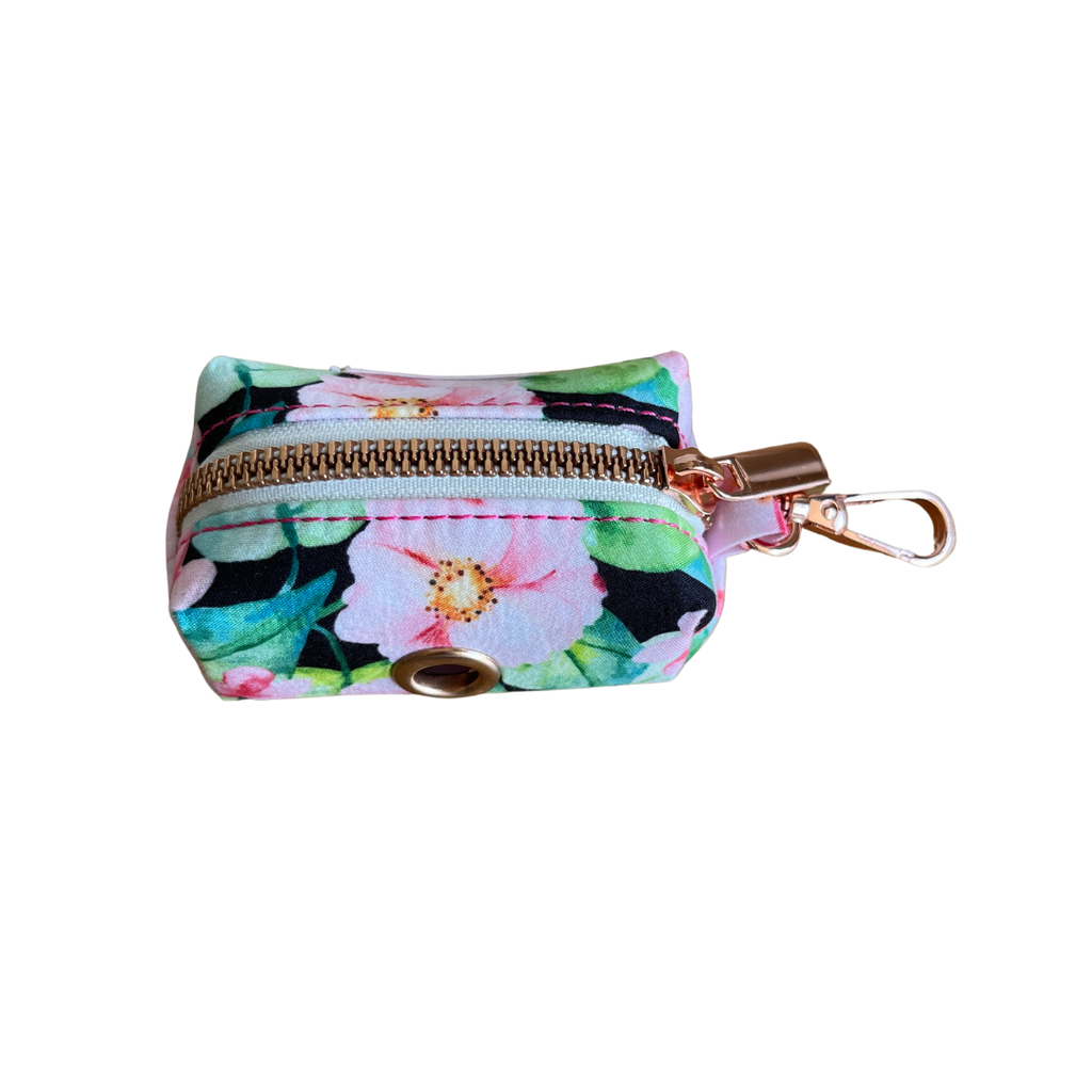 Dog Waste Bag Holder Pink Floral | Bold - SnuggleDogz