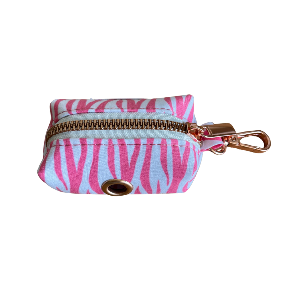 Dog Waste Bag Holder Pink Zebra | Chic - SnuggleDogz