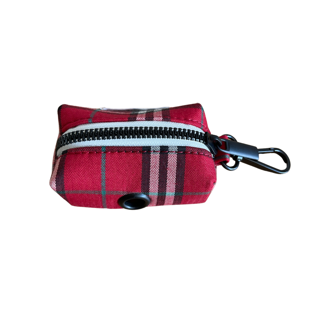 Dog Waste Bag Holder Red Check | Bold - SnuggleDogz
