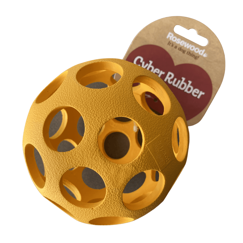 Lattice Ball Dog Toy | Rosewood Orange - SnuggleDogz