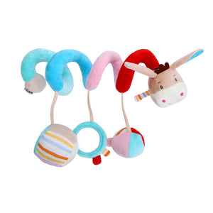 Baby Infant Crib Toy Wrap Around Crib Rail Toy Stroller Toy Cute Baby Educational Toys (Donkey)