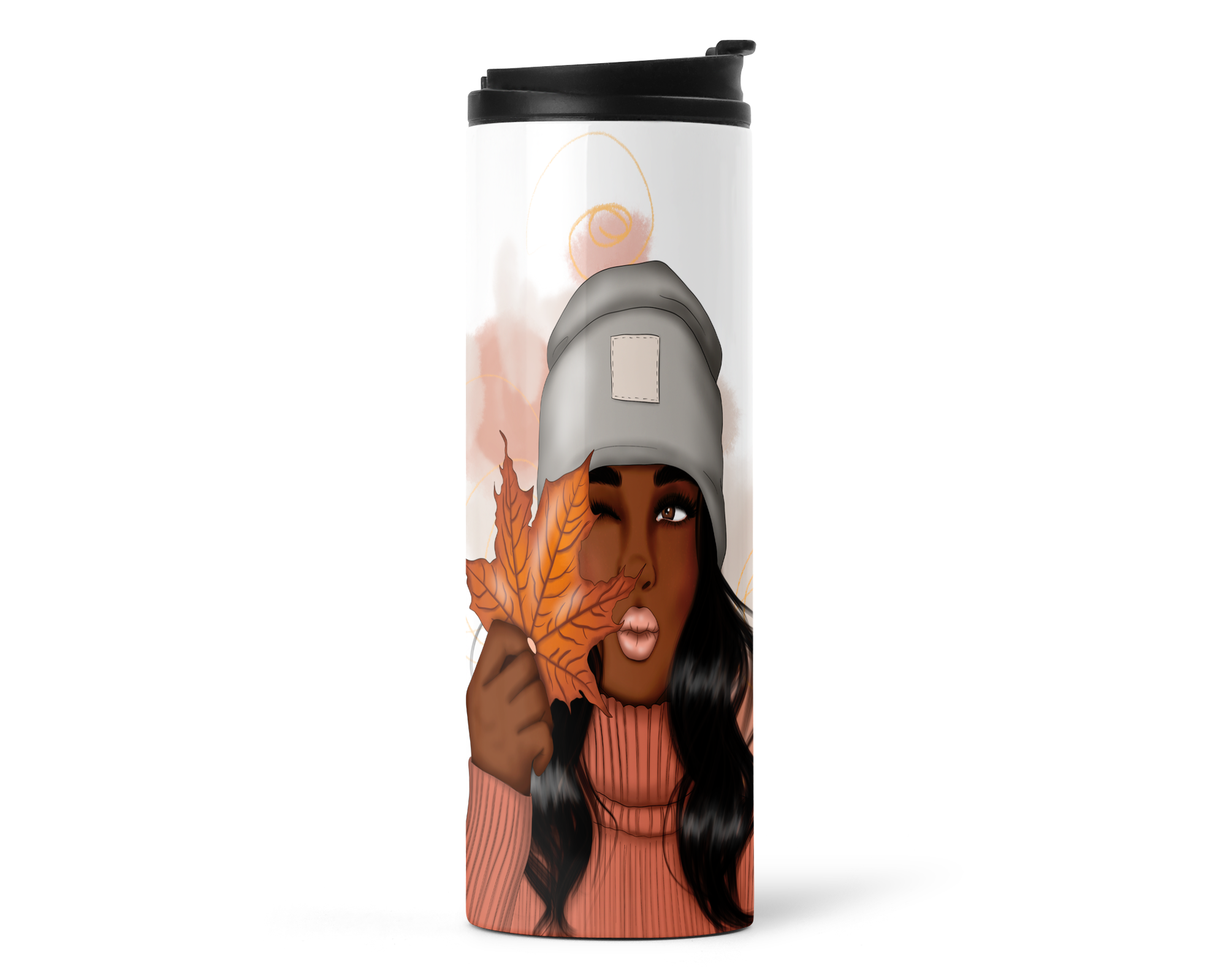 Autumn Woman 16oz Travel Tumbler