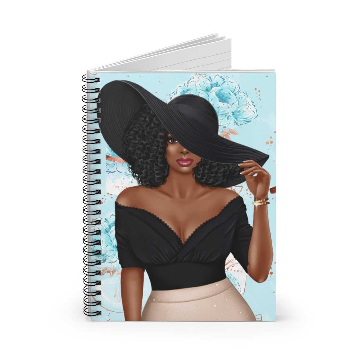 Afrocentric Woman With Black Hat Journal