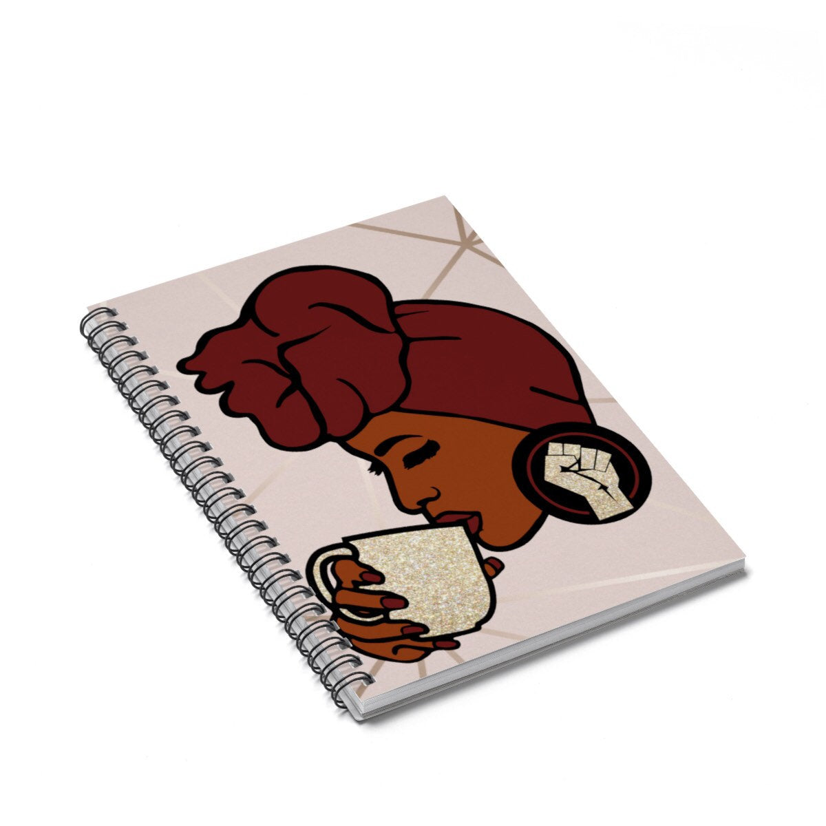 Black Queen With Head Wrap Journal