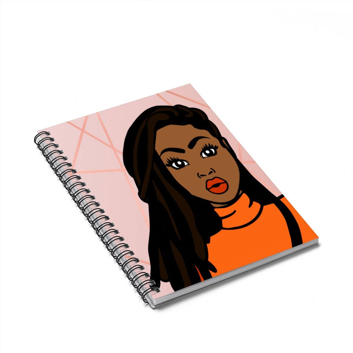 Black Woman With Braids Journal