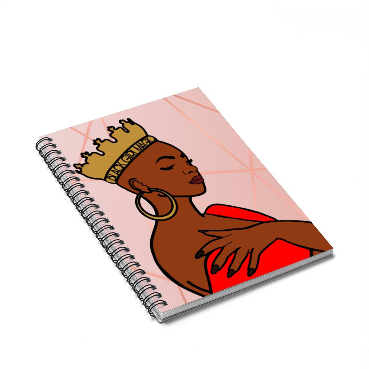 Black Woman With Crown Journal
