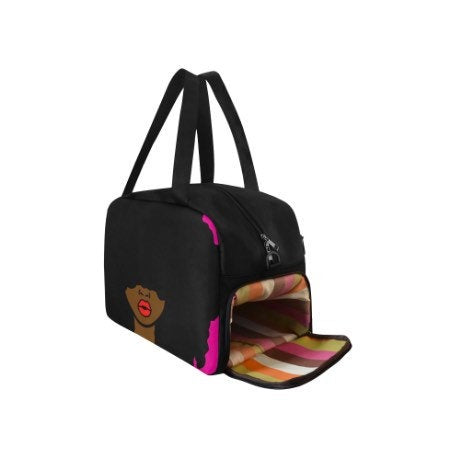 Afrocentric Woman Afro Duffle Bag