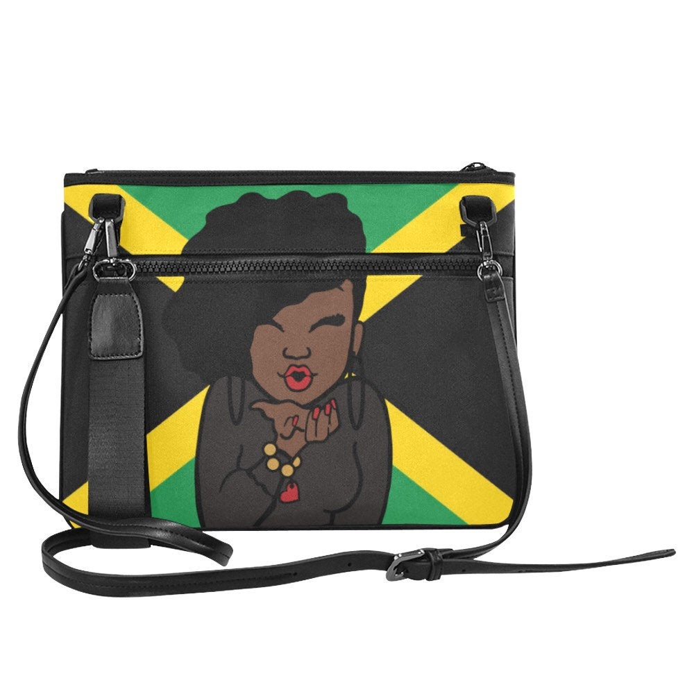 Jamaican Woman Clutch Bag