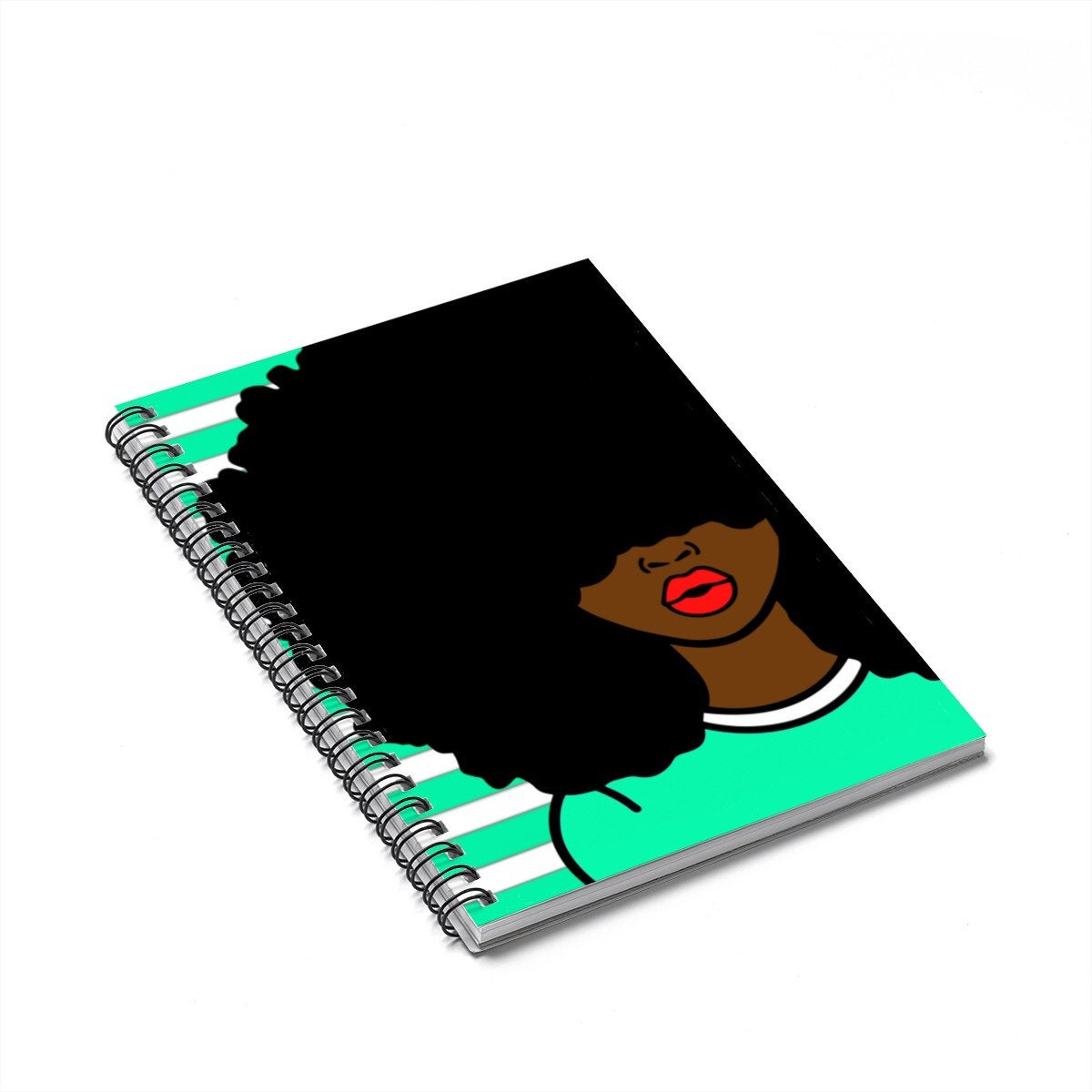 Black Woman With Green Shirt Journal