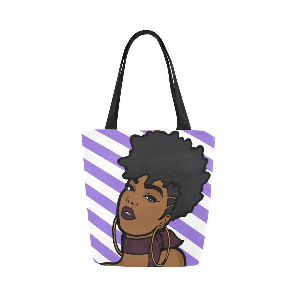 Afrocentric Woman Canvas Bag