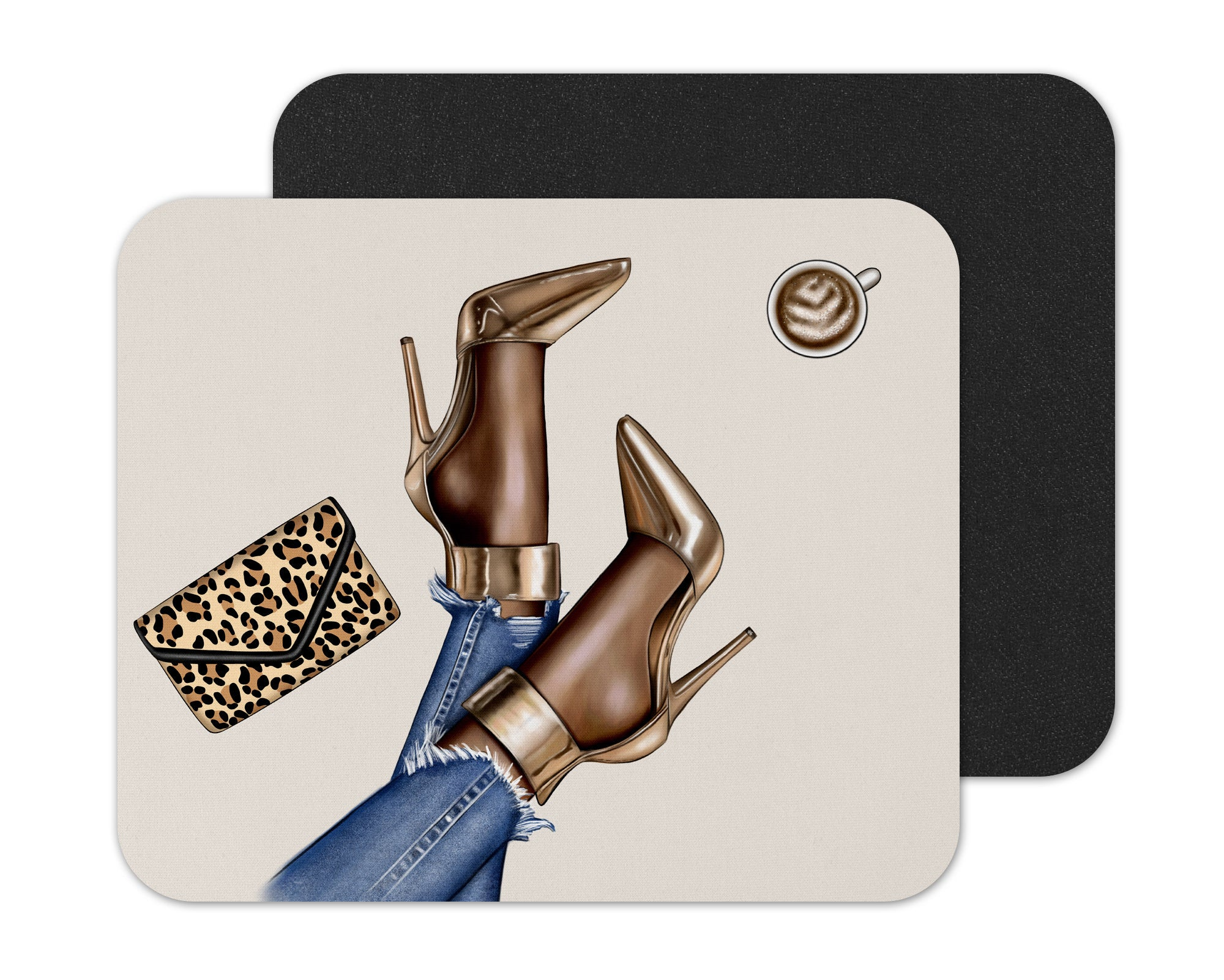 Black Woman Styling Mouse Pad