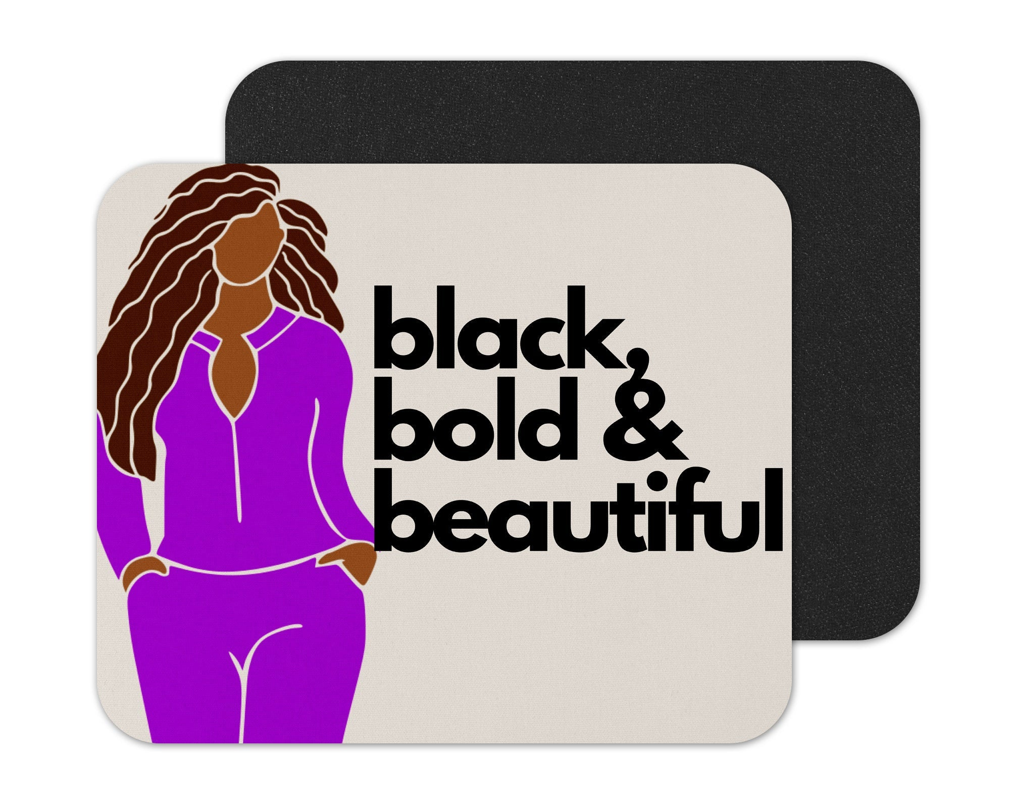 Black, Bold and Beautiful Afrocentric Mouse Pad