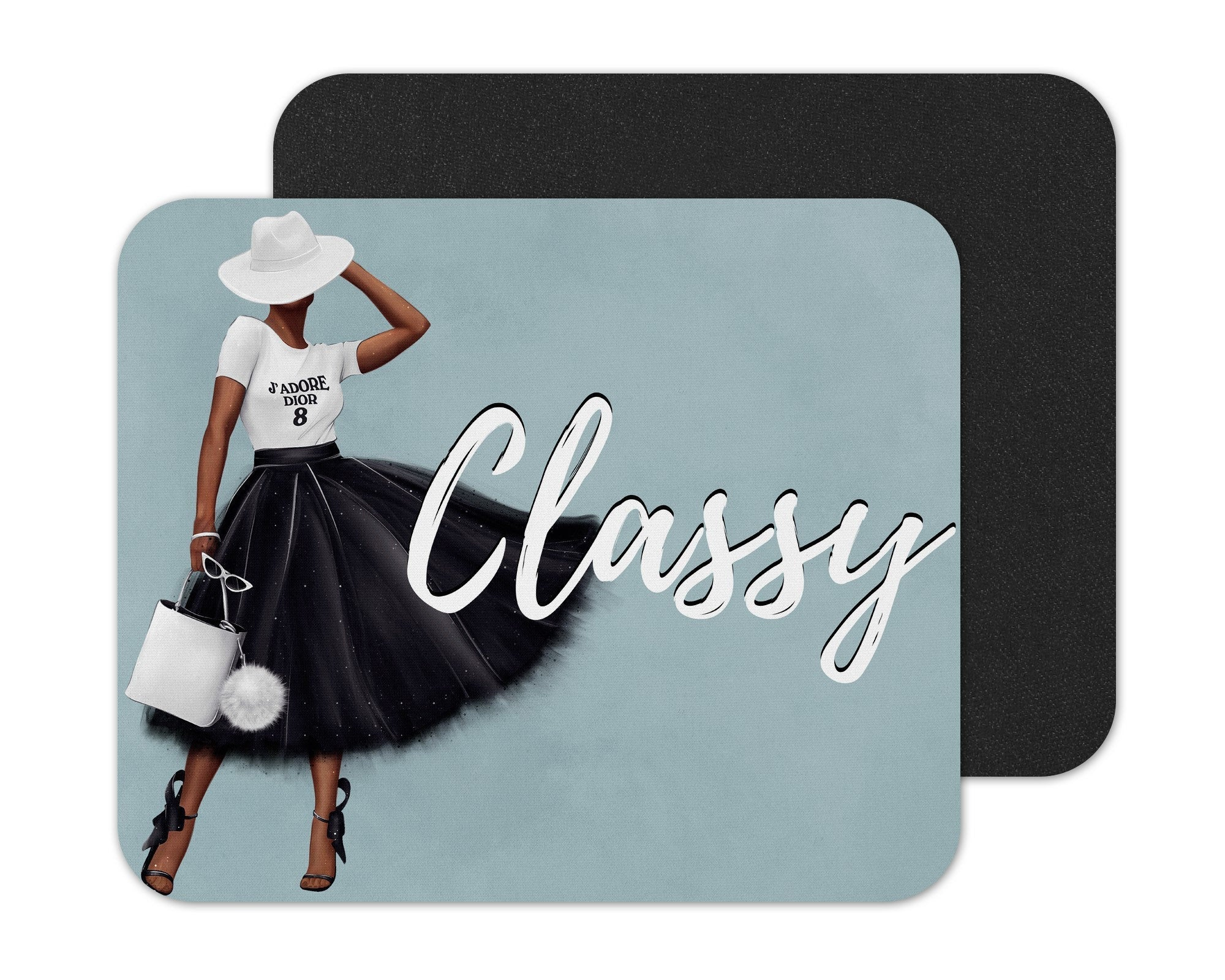 Black Woman Classy Mouse Pad