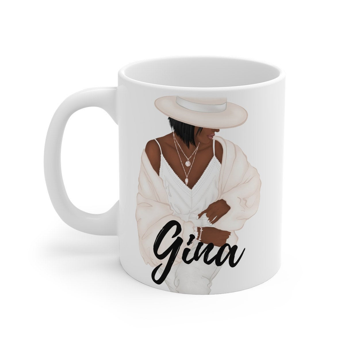 Black Woman Coffee Mug Customized With Name