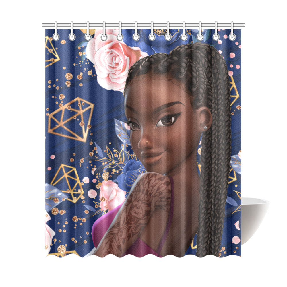 Black Woman Shower Curtain