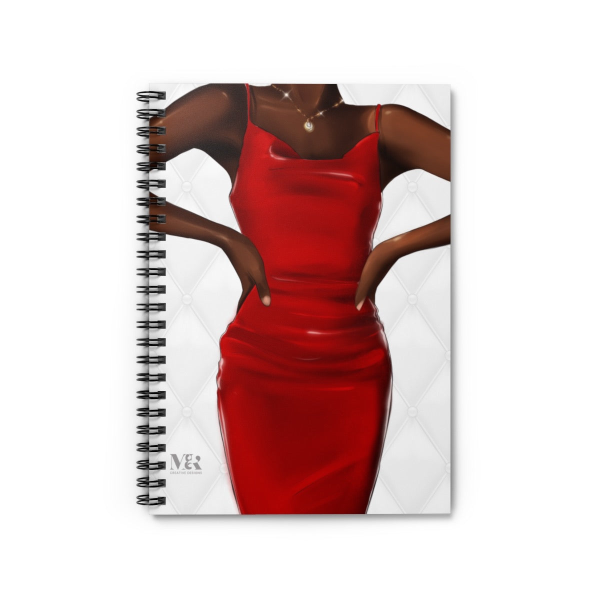 Black Woman In Red Journal