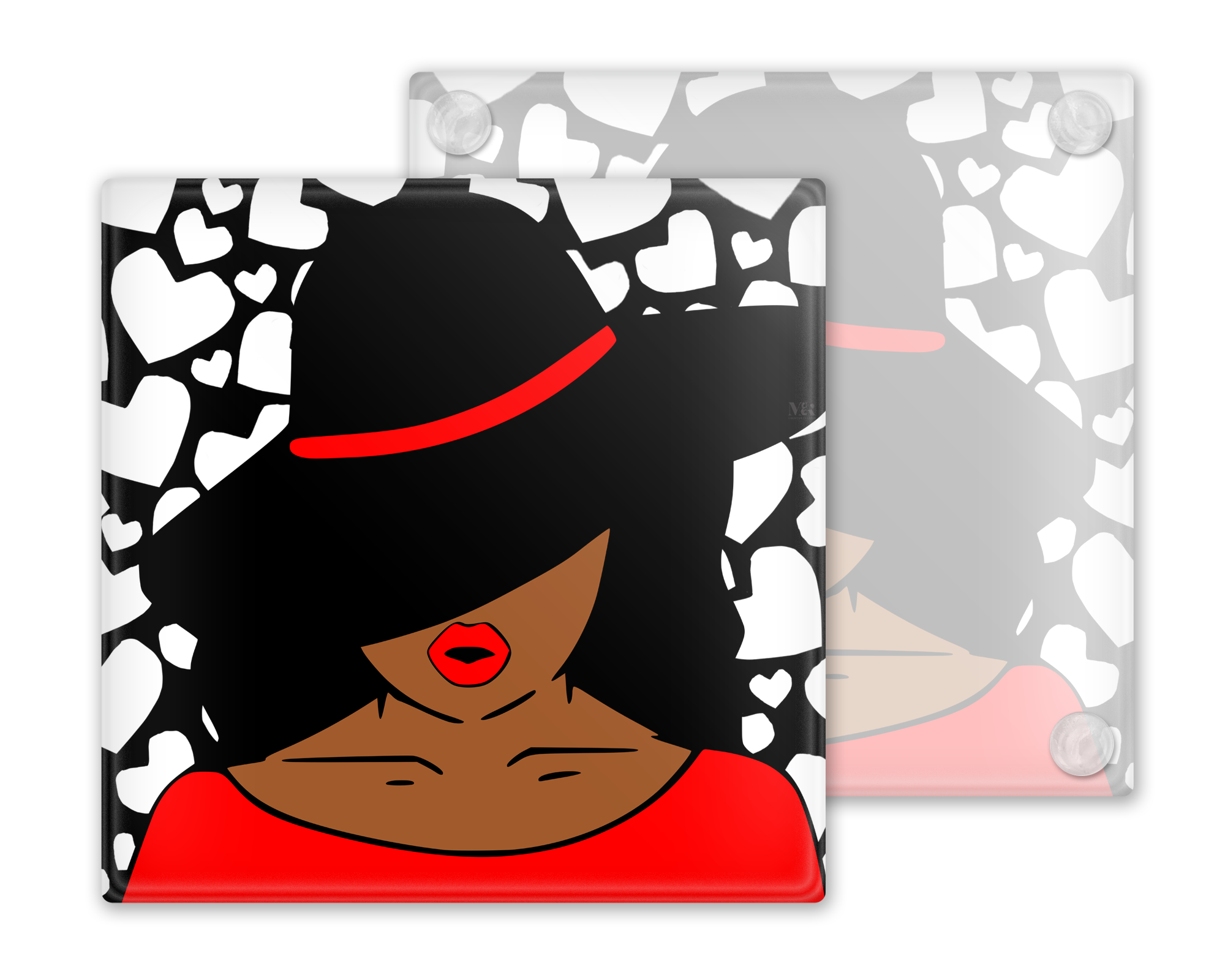 Afrocentric Woman Coasters, Set of 4