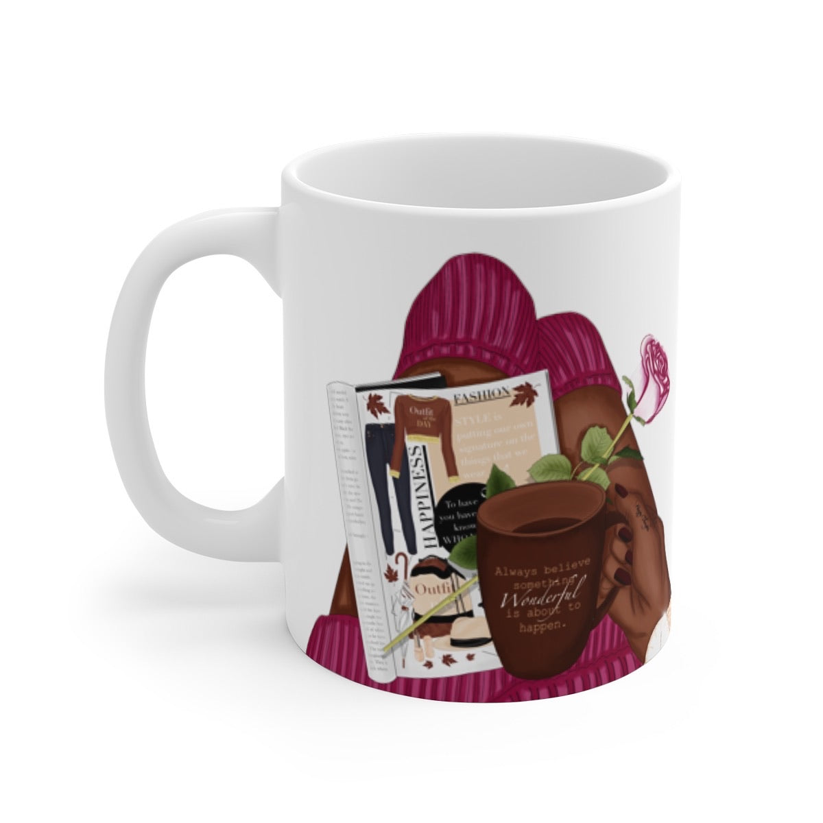 Self Care Black Woman Mug