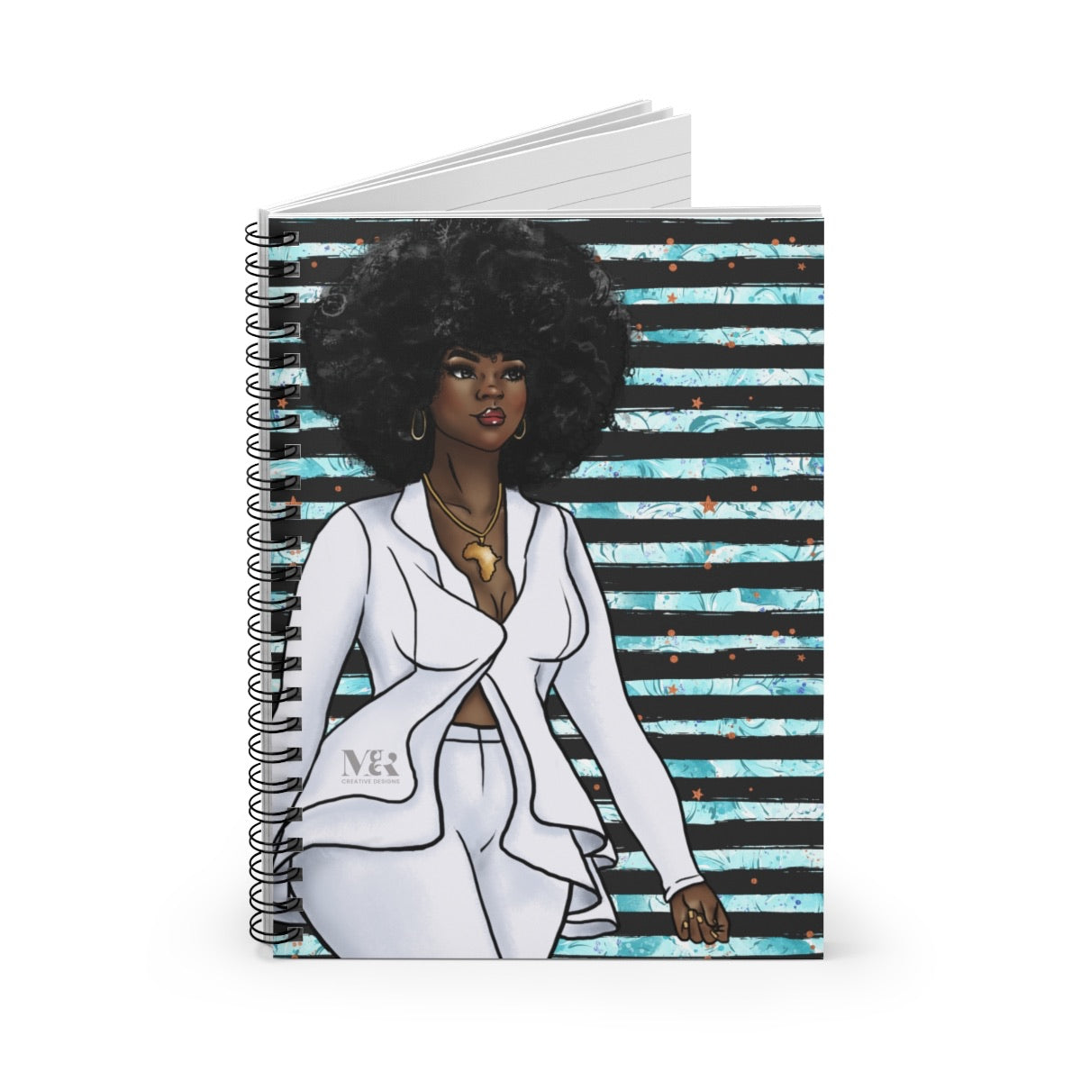 Black Woman In White Suit Journal