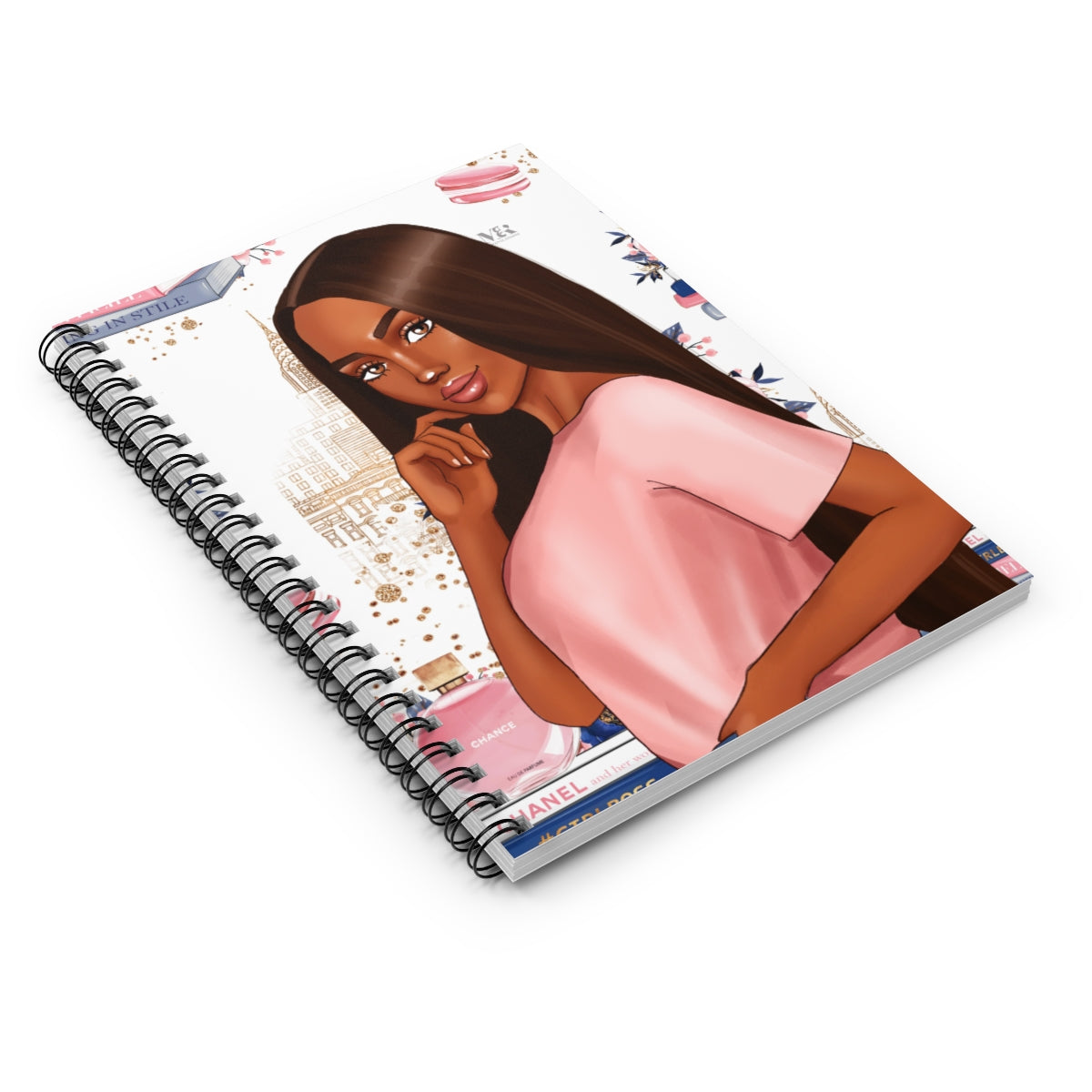 Black Woman In Pink Journal