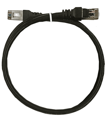 XIC-0.5  Shielded Cat 5 cable, 50cm, Black, M-M.