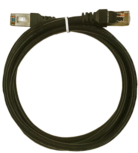 XIC-1.5  Shielded Cat 5 cable, 1.5m, Black, M-M.