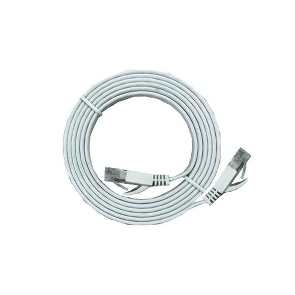 XIC-1.8 shielded Cat 7 flat interface 1.8m cable, White, M-M