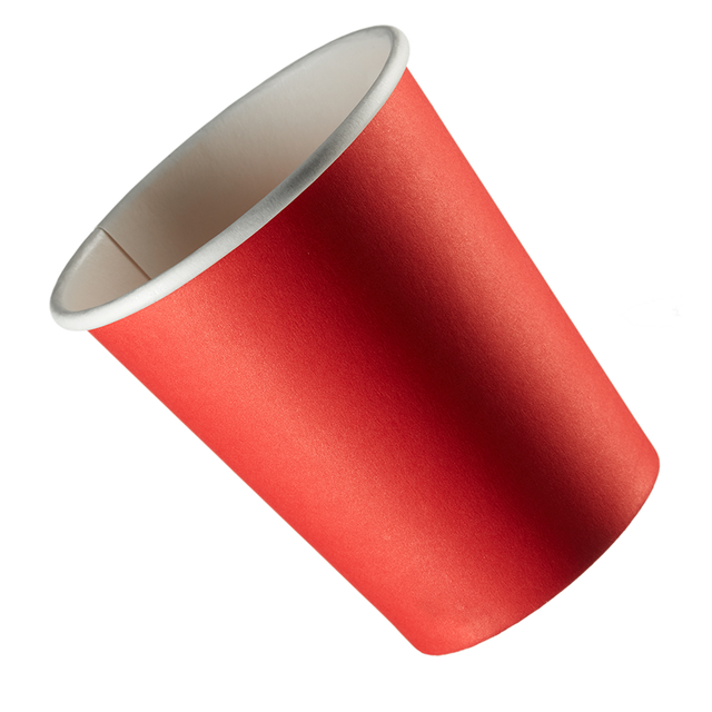 Single Walled Hot Cup - Red
