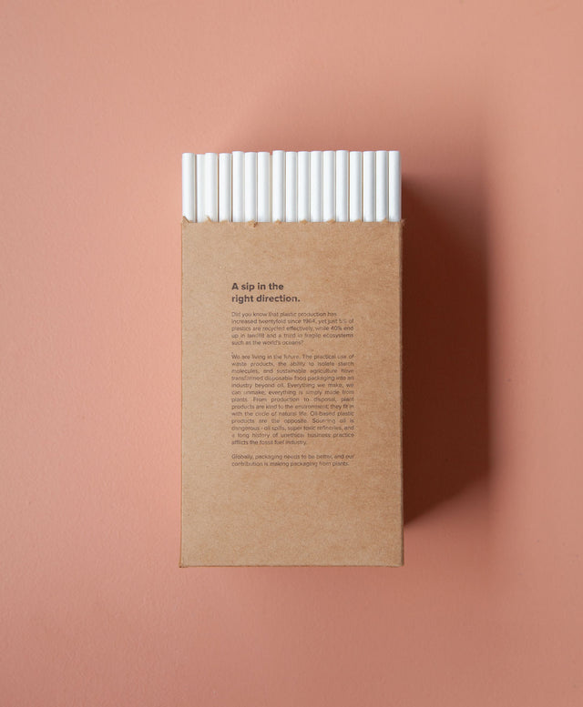 Straw - White Paper 6mm