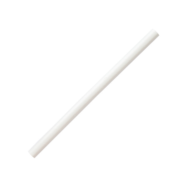 Straw - White Paper 10mm