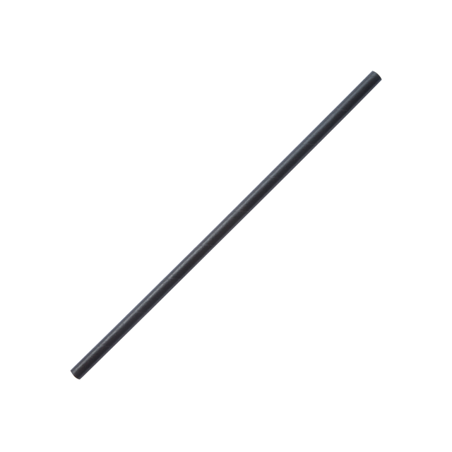 Straw - Black Paper 6mm